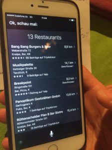 Voicesearch, geschlossene Top-Locations