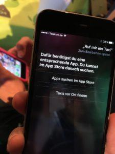 Taxi-Voicesearch auf einer iOS-Betaversion