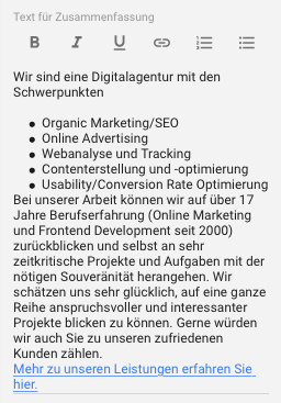 Follow-Link auf index, follow-Webseite von Google
