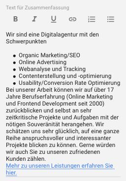 Follow-Link auf index, follow-Webseite von Google