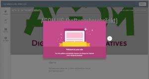 Google MyBusiness Websitebuilder-Welcome