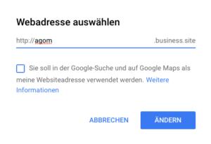 Subdomain-Auswahl: frei, aber von Googles Gnaden
