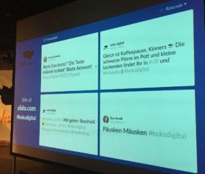 koksdigital 2017 twitterwall nach vortrag
