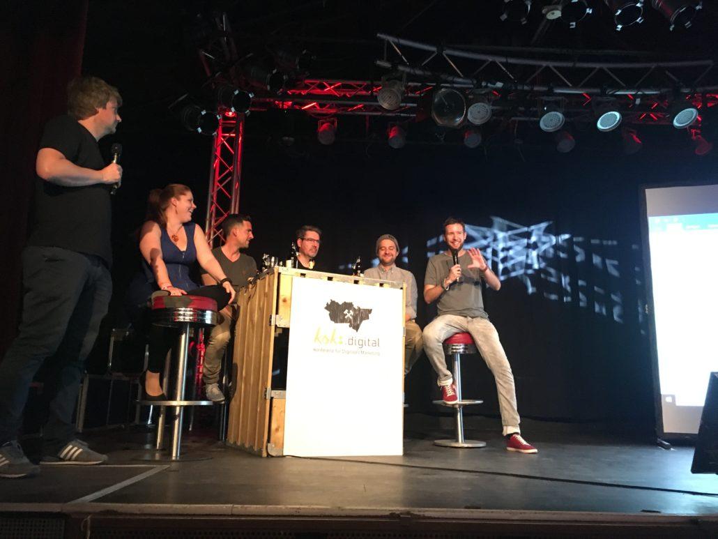 Abschluss Panel auf der Koks Digital 2018